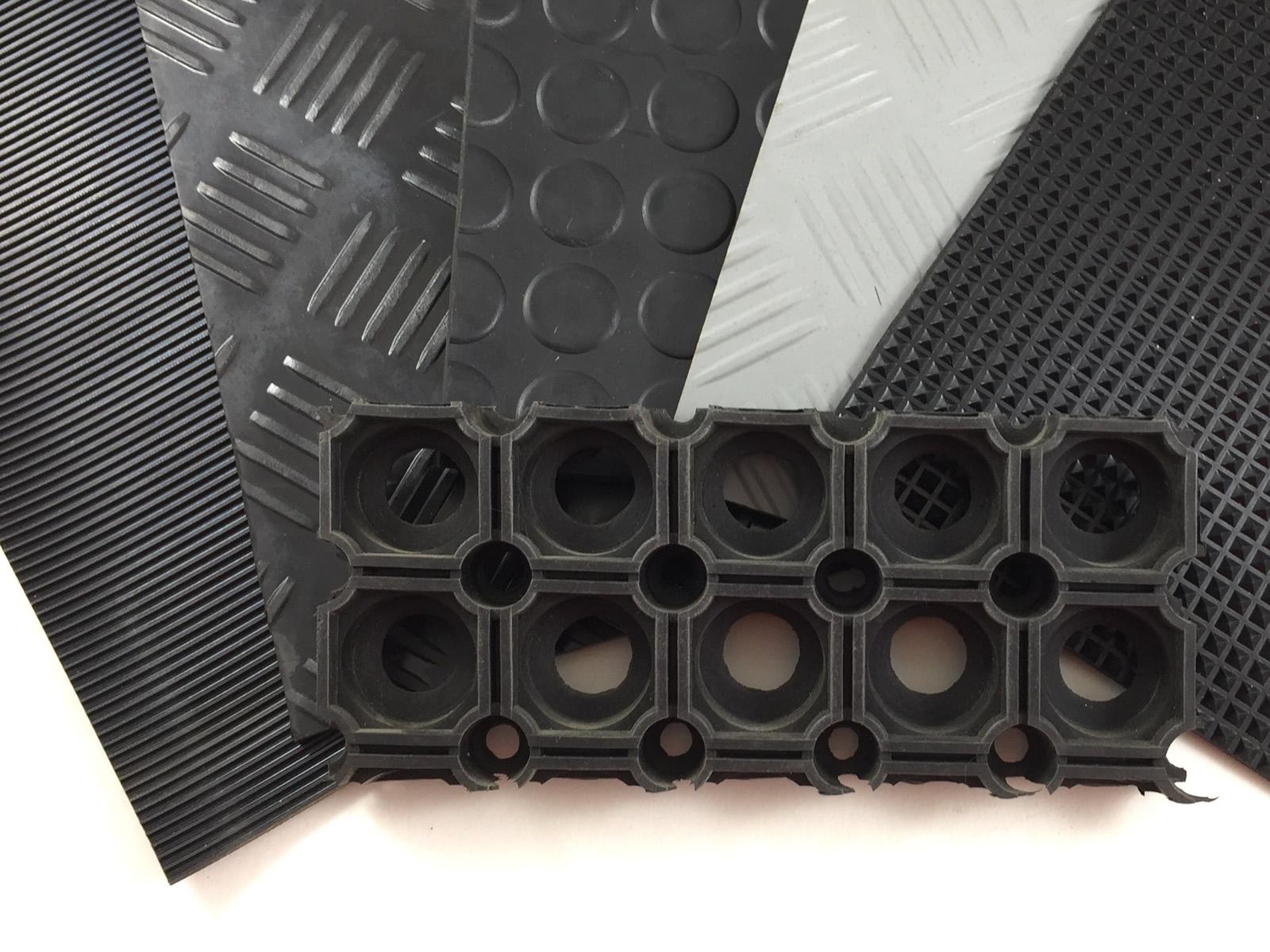 Gummiplatten mit strukturierter Oberfläche
