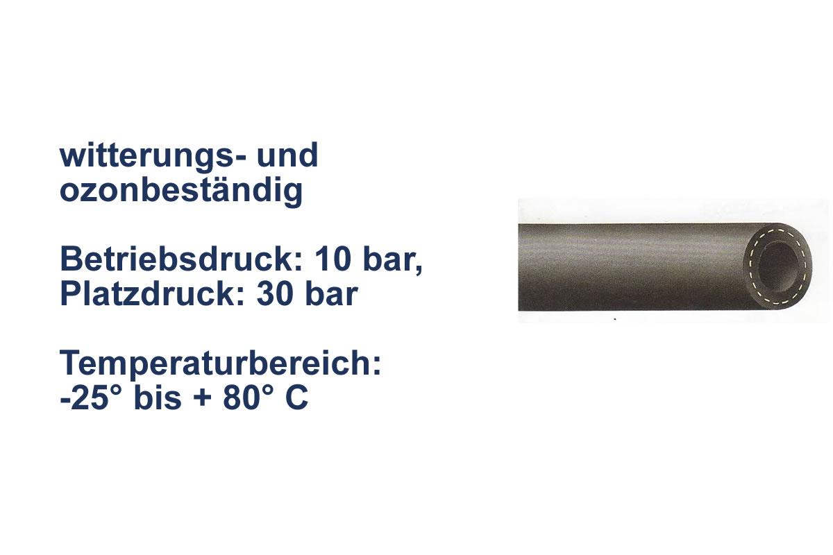Gummischlauch für Wasser 10 bar