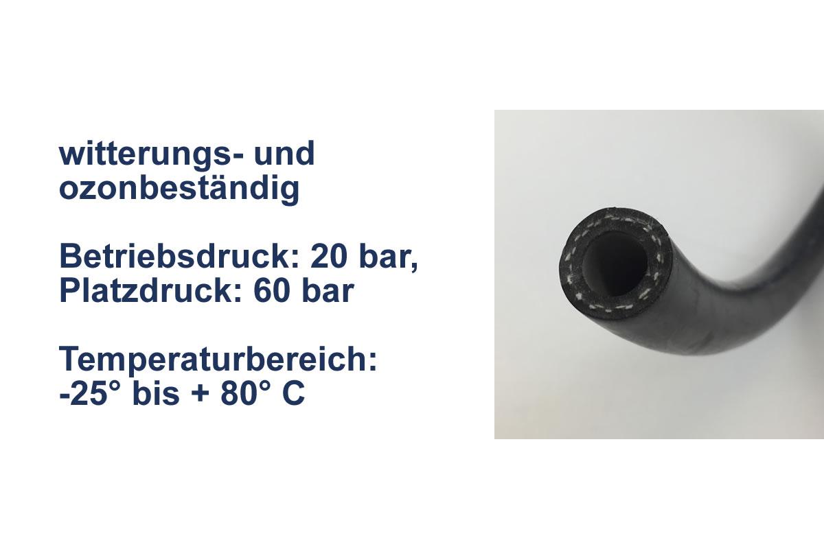 Gummischlauch für Wasser 20 bar