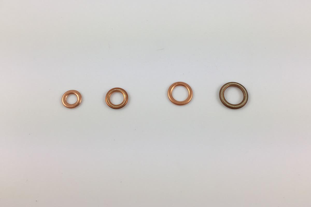 Kupfer Ringe mit Glasfaden