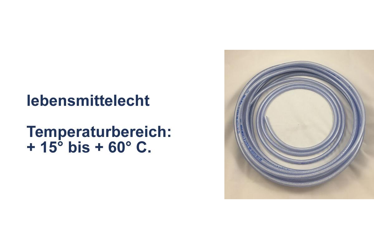 PVC Schlauch transparent mit Einlage