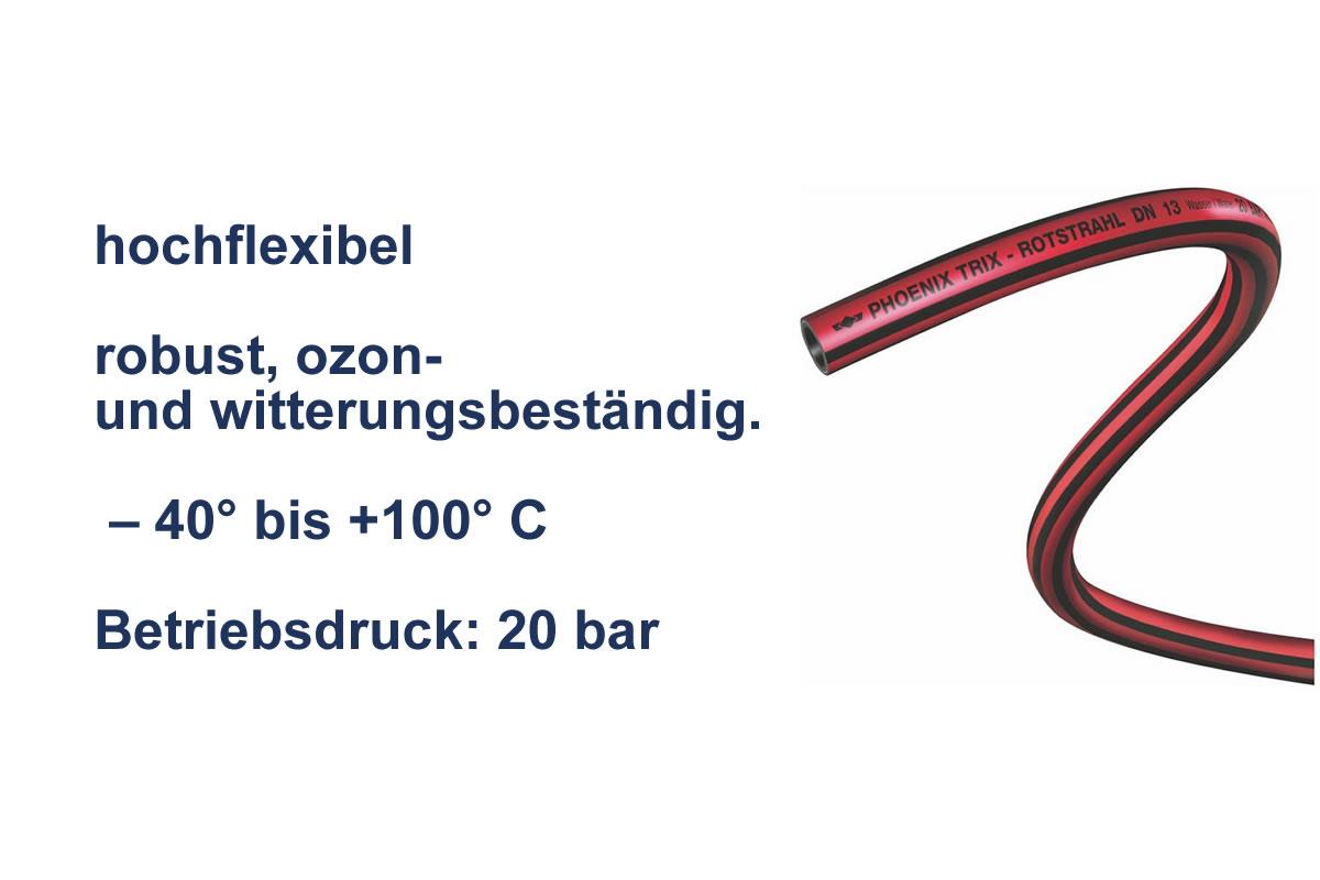 Heißwasserschlauch Trix Rotstrahl