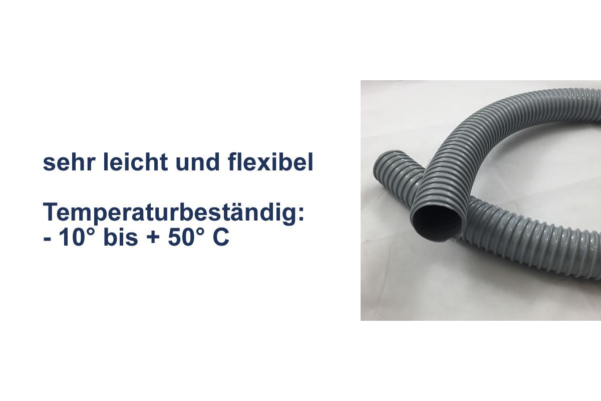 Weich PVC Spiralschlauch grau